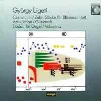 György Ligeti – Continuum · Zehn Stücke für Bläserquintett · Artikulation · Glissandi · 2 Etüden · Volumina